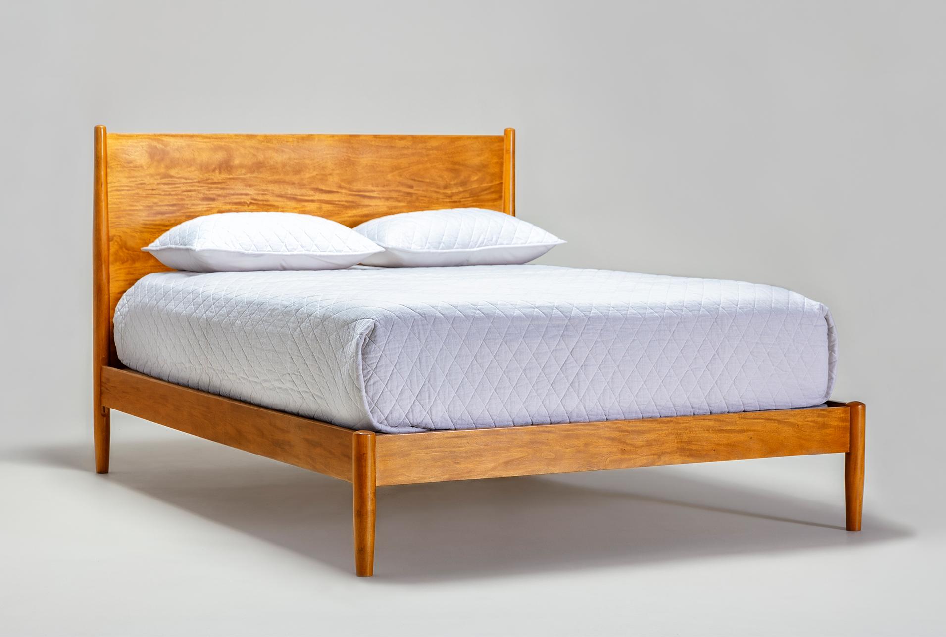 Alton Cherry Queen Platform Bed Living Spaces