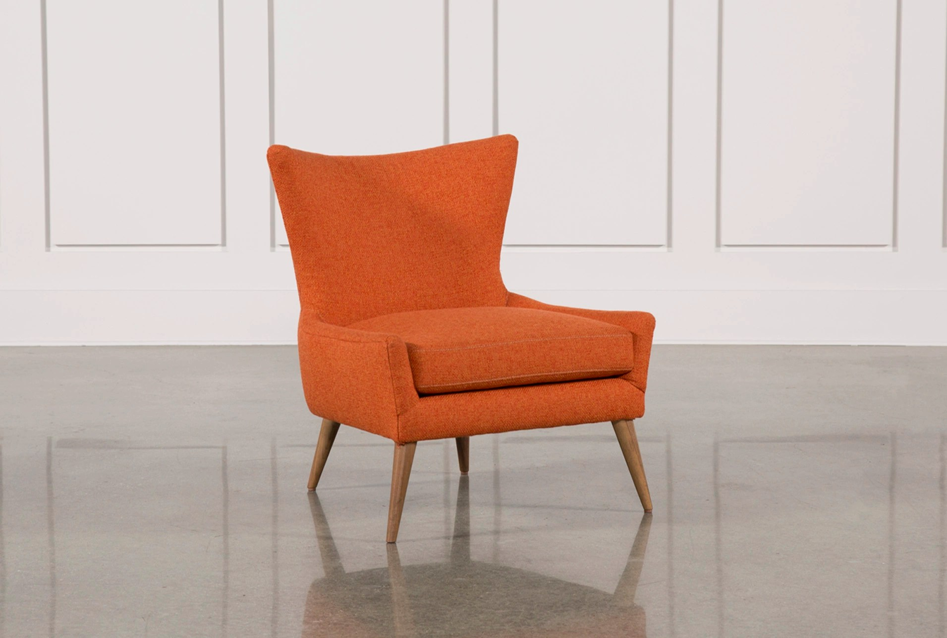 bedroom chairs wingback reclining living spaces tate orange accent chair