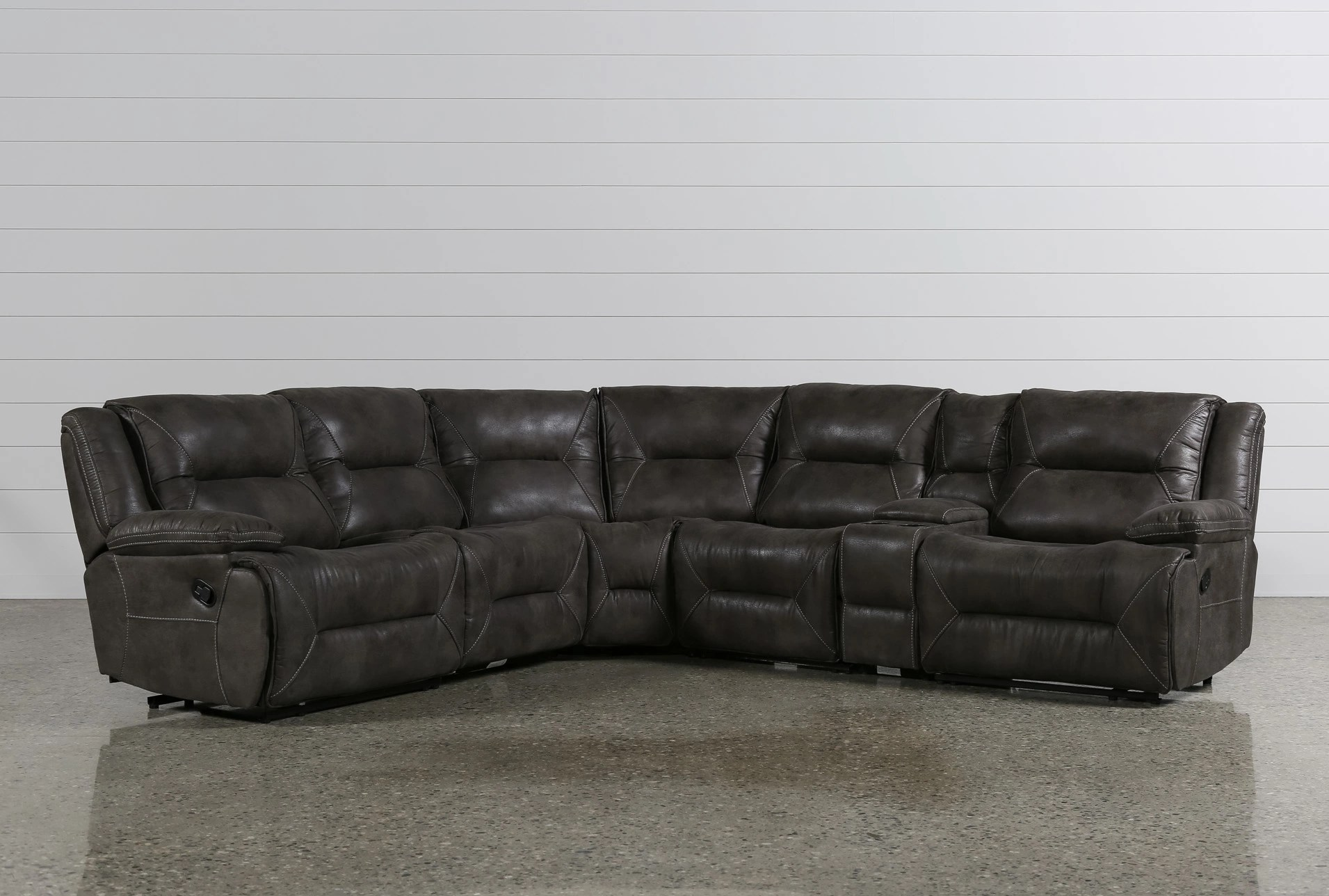 motorized sectional sofa gramercy side table with drawer power reclining vs manual baci living room