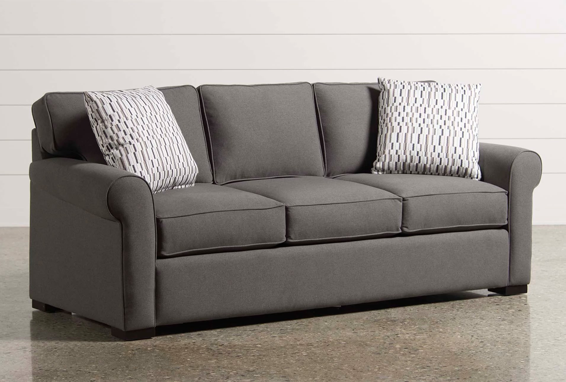 crate and barrel karnes sleeper sofa review bed cad block free with memory foam
