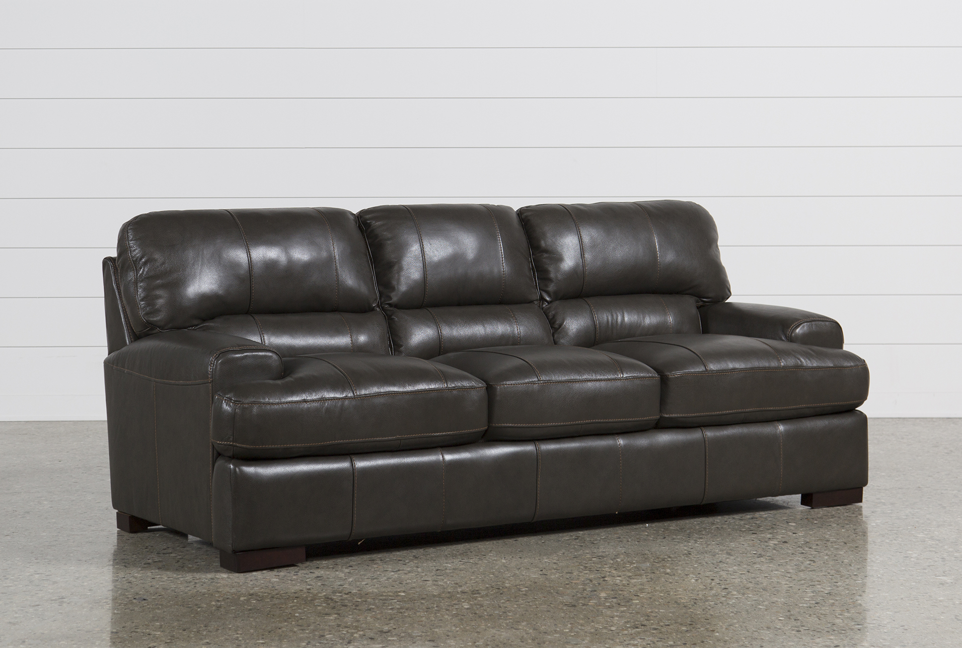 Andrew Leather Sofa Living Spaces
