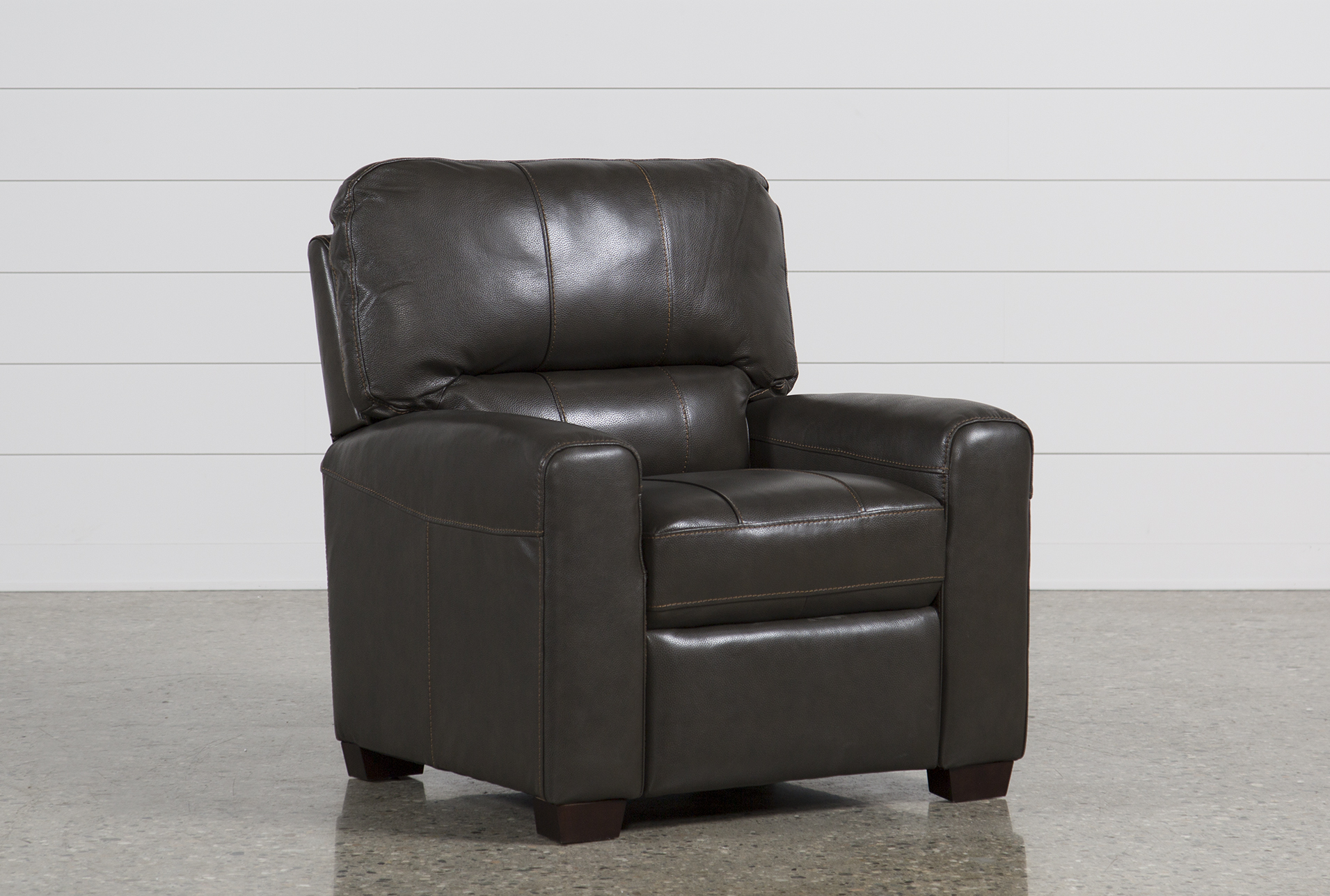 recliner chair leather oversized and a half andrew living spaces