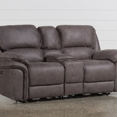 Grey Power Reclining Sofa Chenille Fabric Cleaning Norfolk Loveseat W Console Living