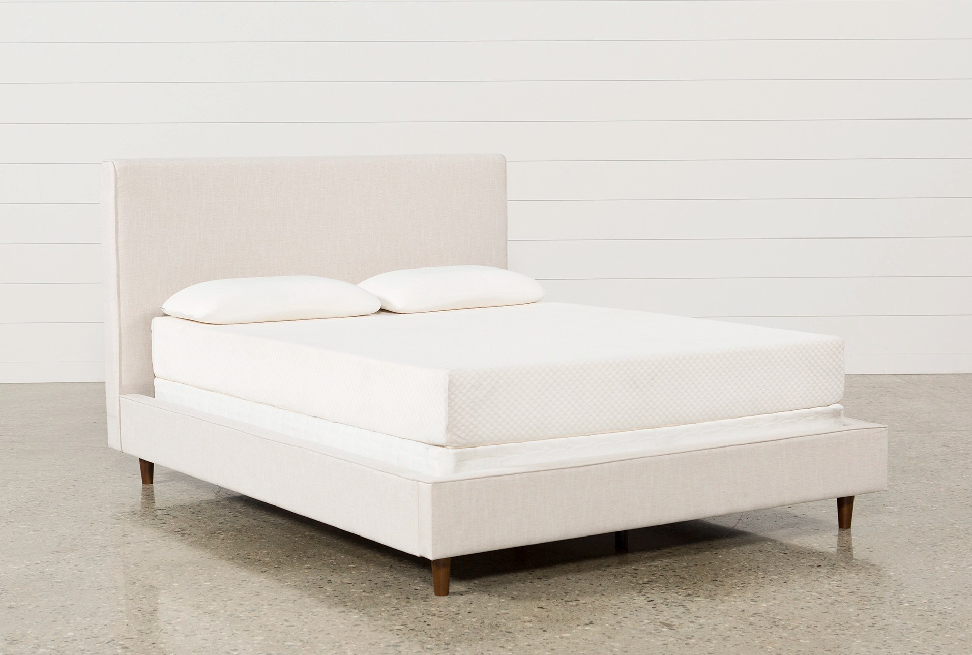 dean sand queen upholstered panel bed
