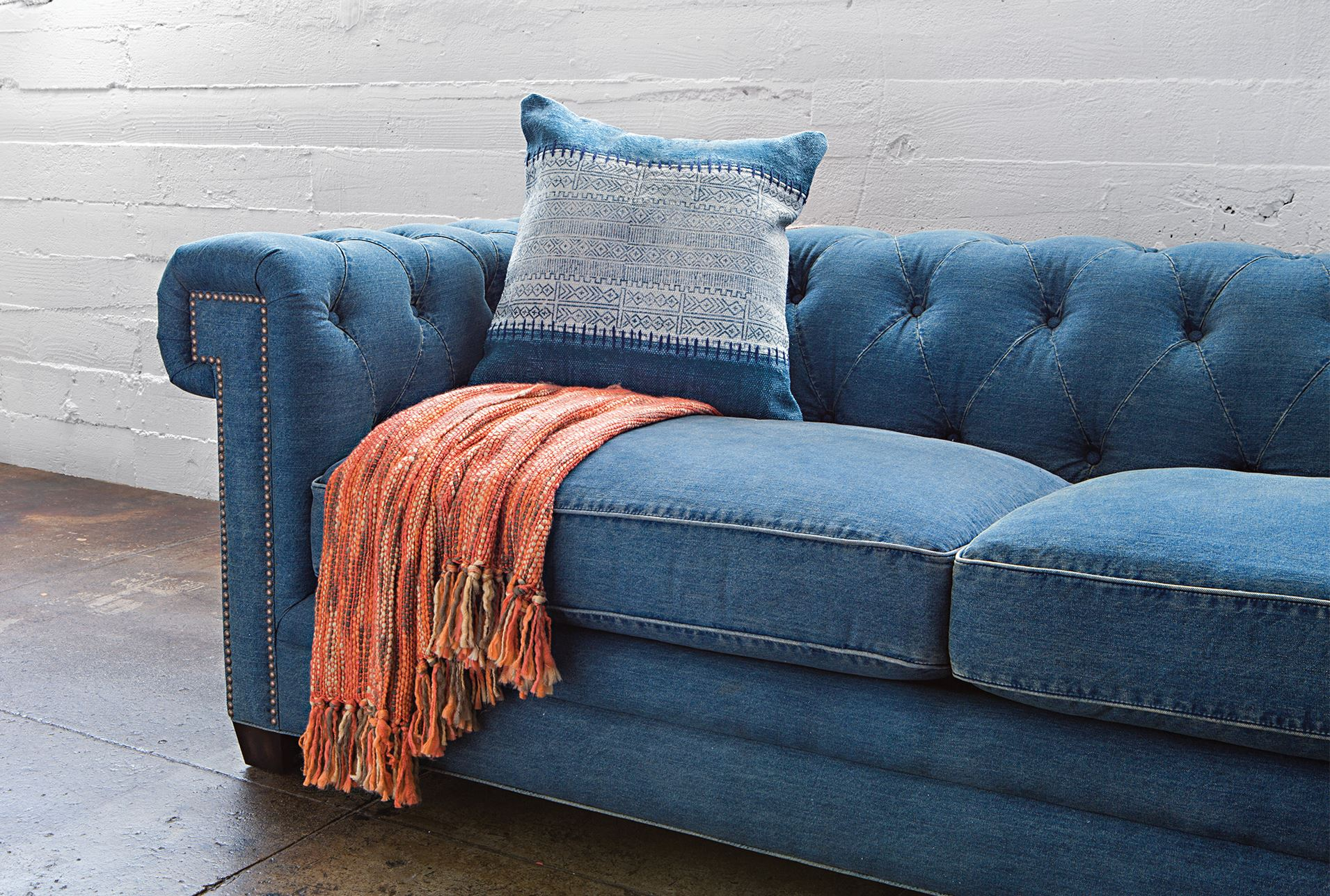 denim living room furniture best neutral paint colors for uk tufted sofa spaces 360 elements