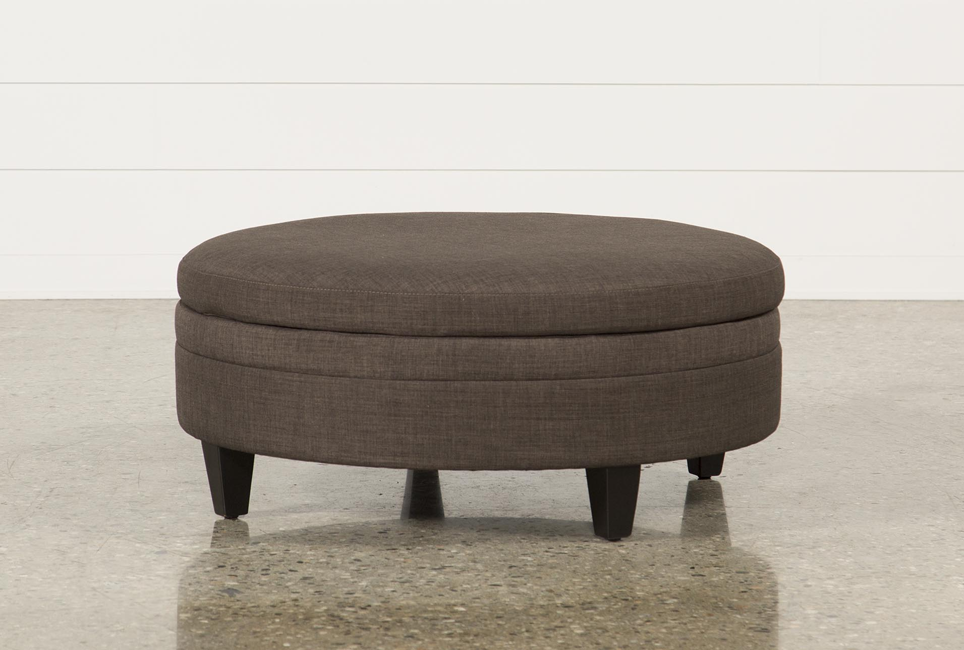 Adler Fabric Large Storage Ottoman Living Spaces