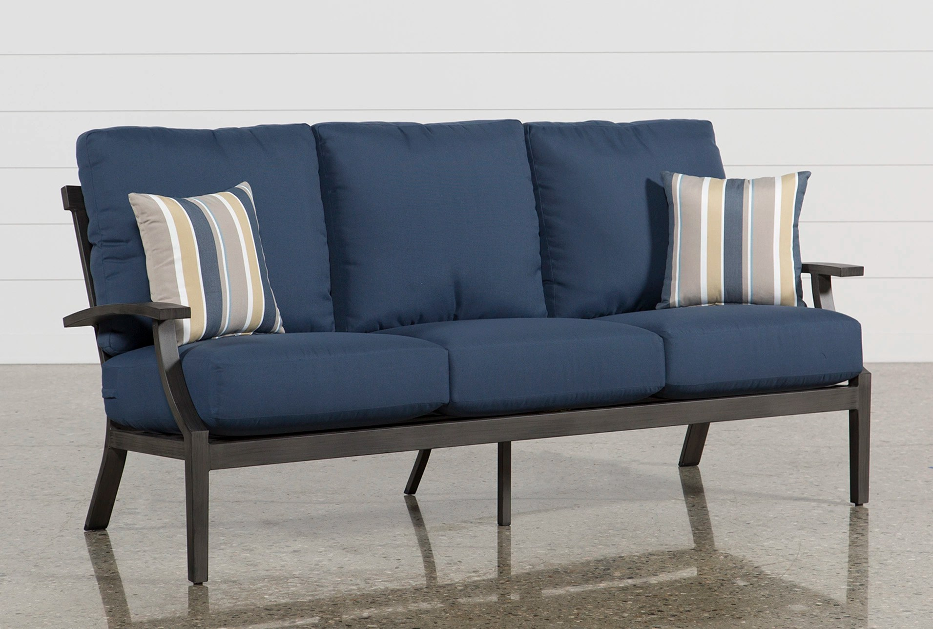 Outdoor Martinique Navy Sofa Living Spaces