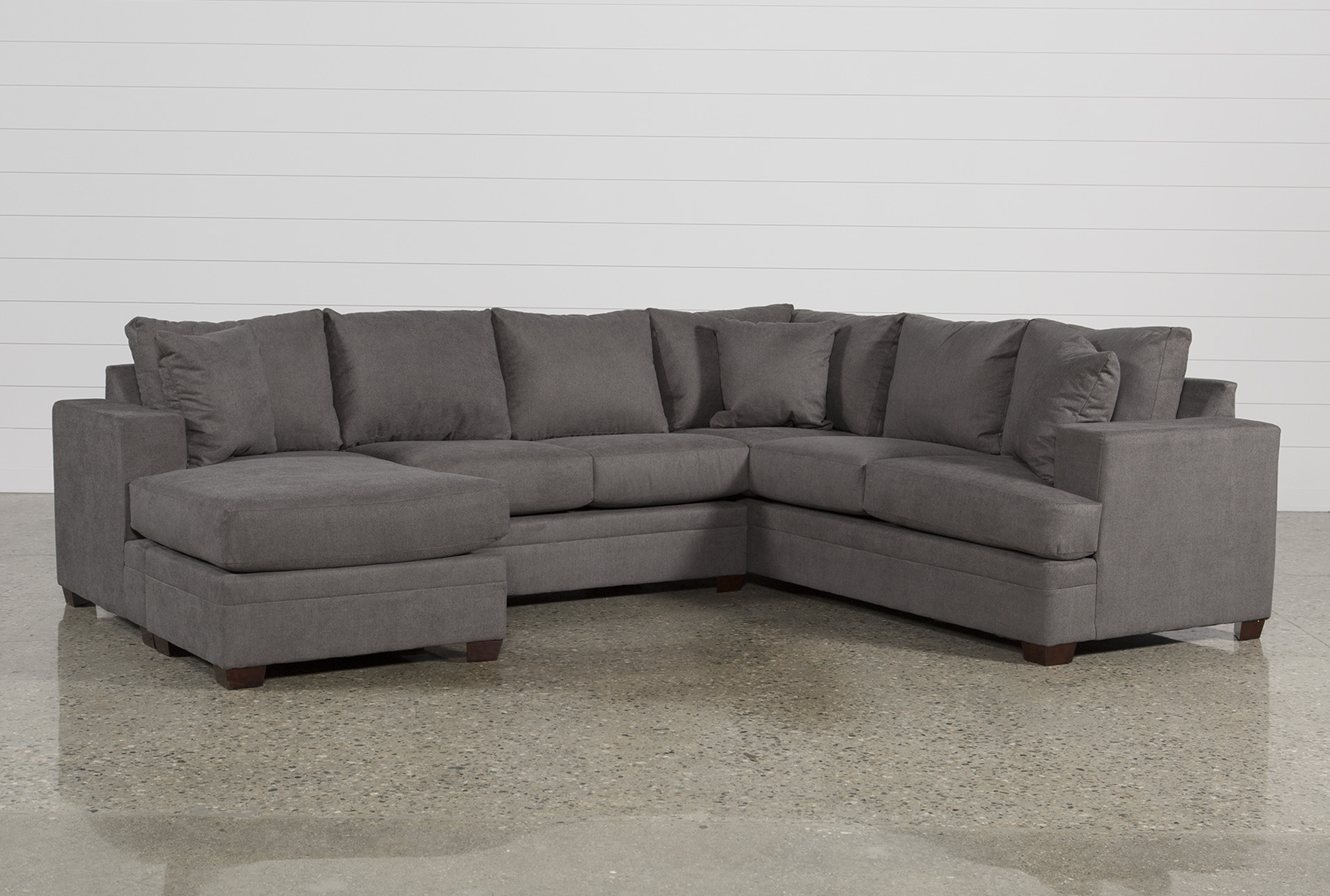 sofa w chaise corner recliner sectionals sectional sofas living spaces kerri 2 piece laf