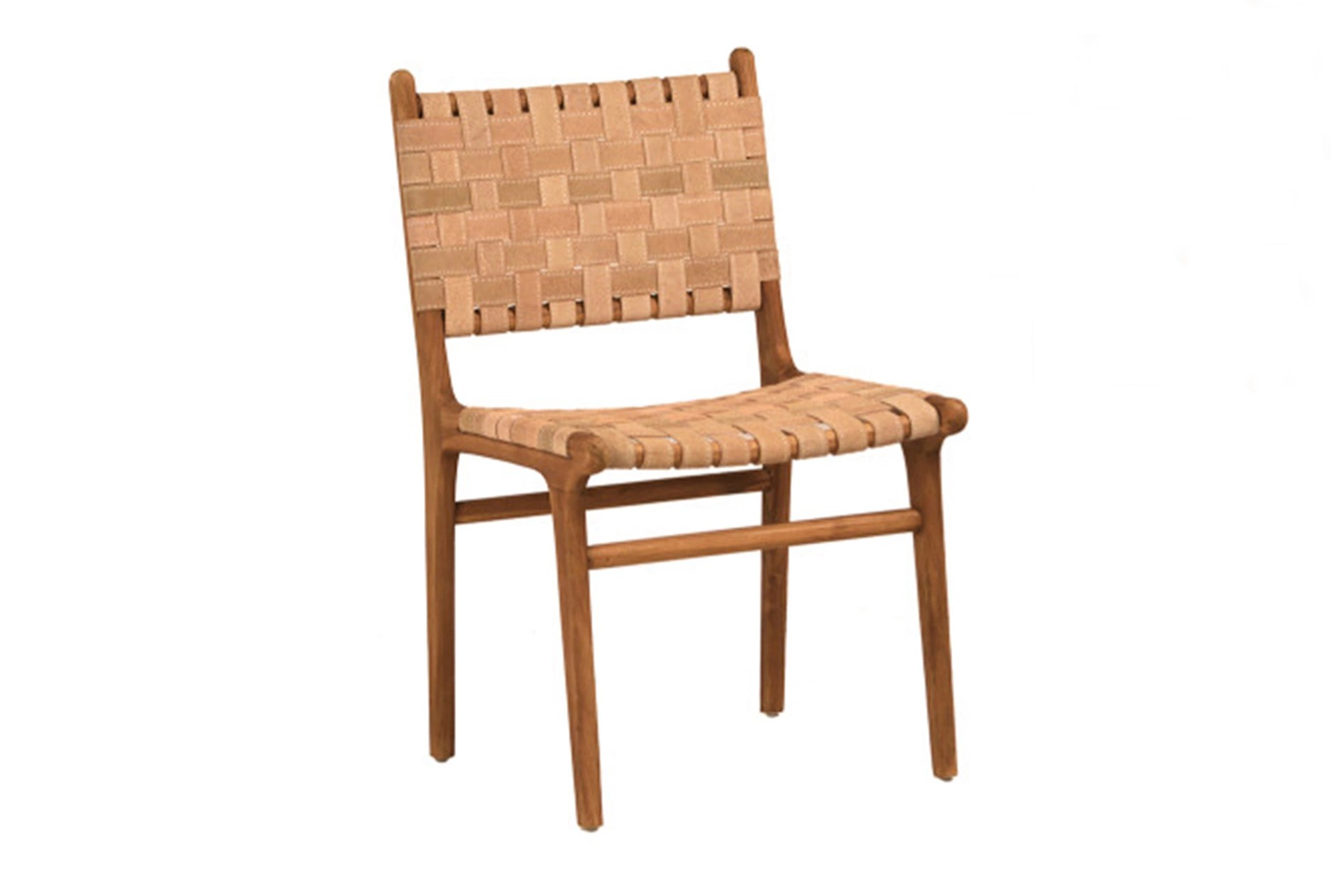leather dining chairs chair dance moves natural brown teak wood living spaces large view