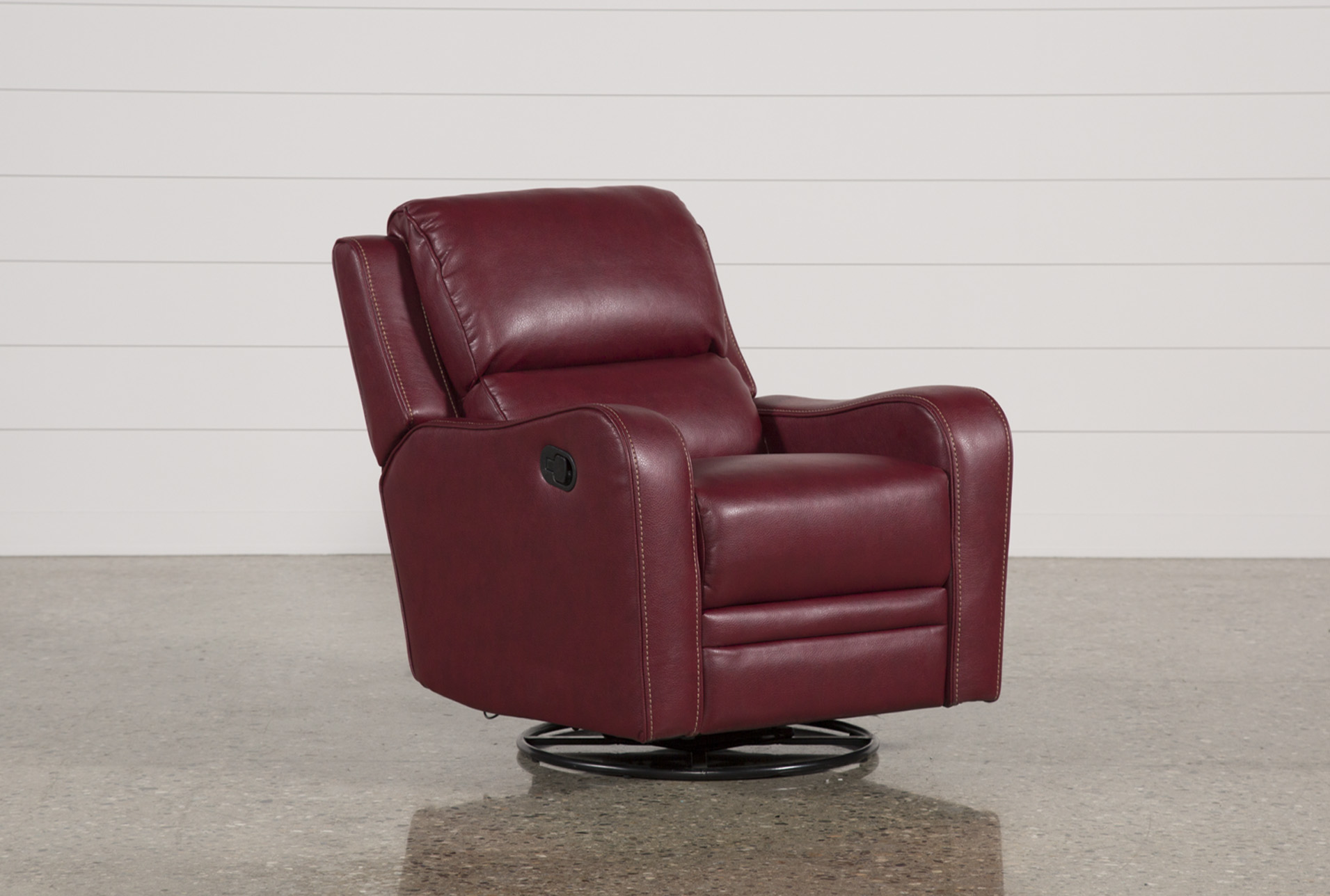 red recliner chairs dining room chair with arms covers scorpio swivel glider living spaces qty 1 has been successfully added to your cart