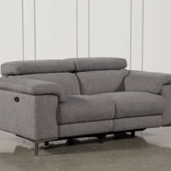 Living Room Loveseat With Navy Blue Sofa Loveseats Free Assembly Delivery Spaces Talin Grey Power Reclining W Usb