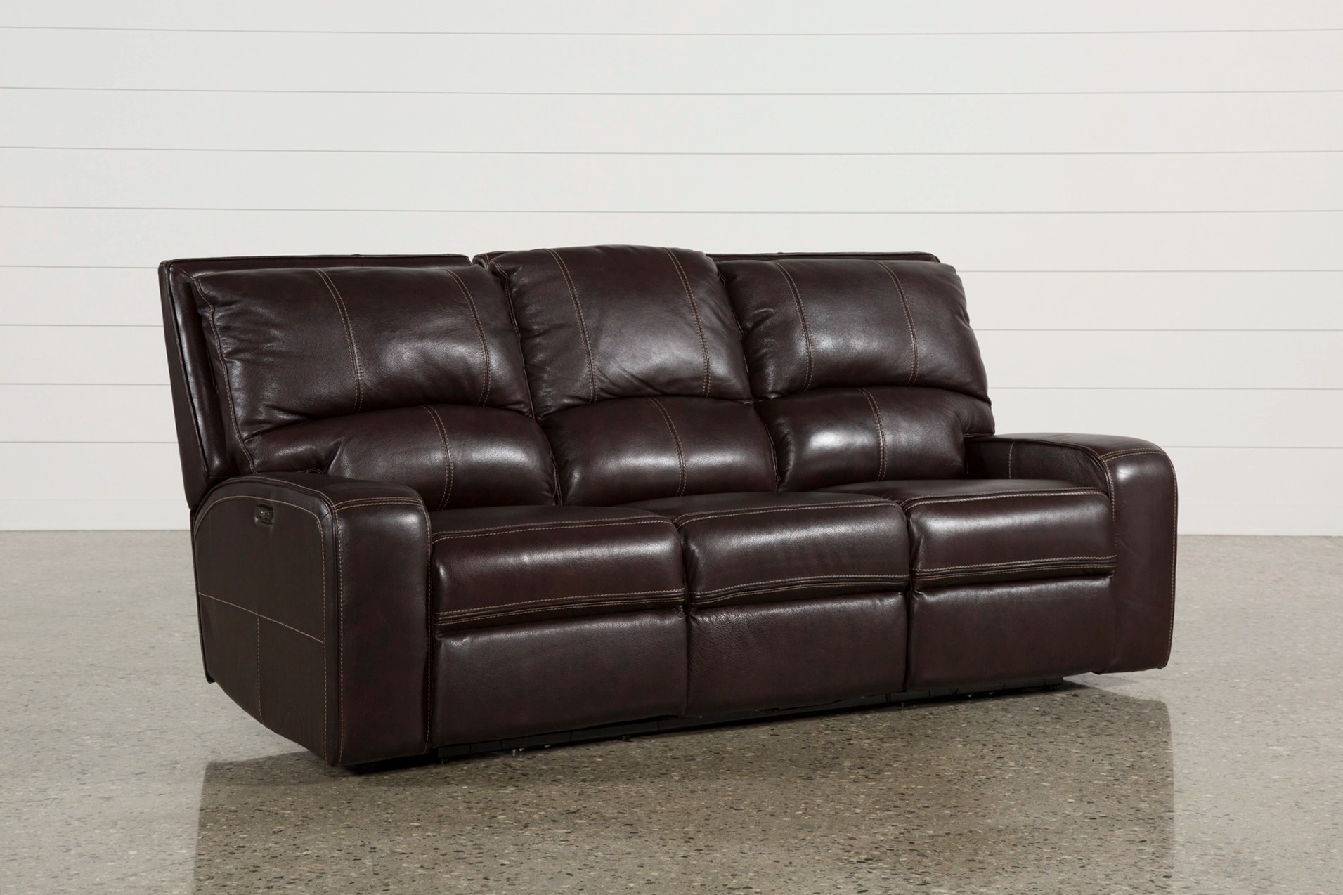 reclining sofa leather brown canape difference clyde dark power w headrest usb amp qty 1 has been successfully added to your cart