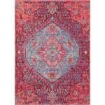 47x67 Rug Odette Medallion Bright Pink Aqua Living Spaces