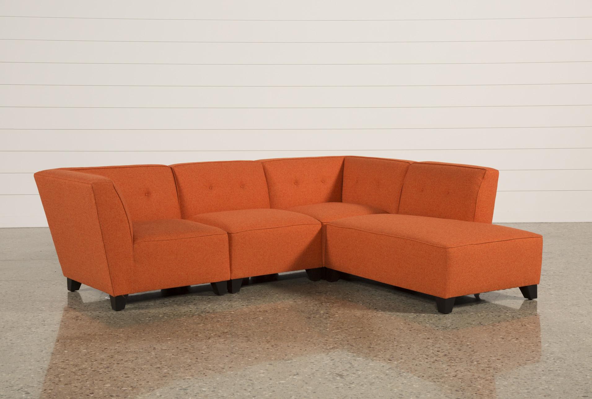 orange sofa bed edge rozkladana z materacem futon i poduszkami brenda by kilim thesofa