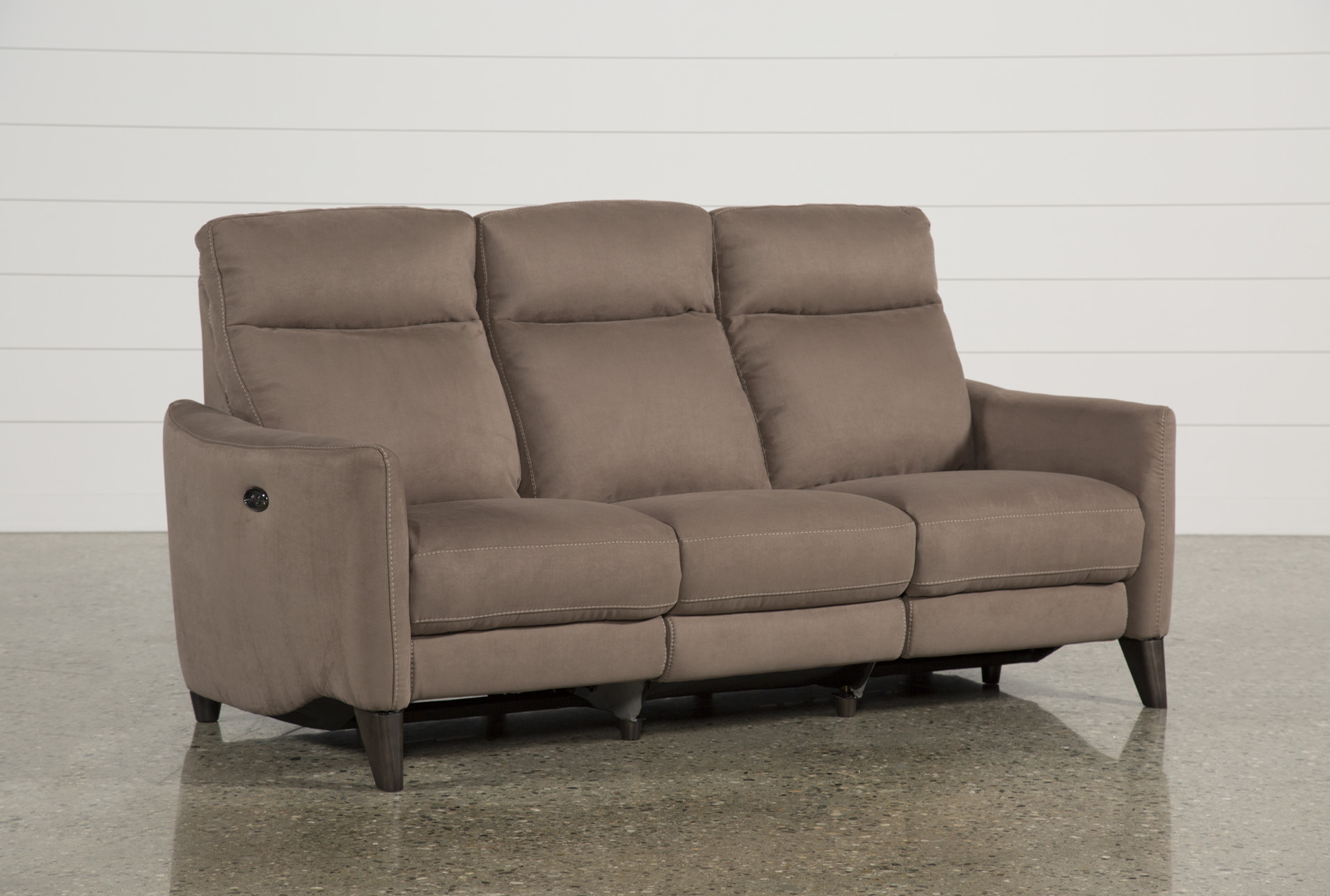 power reclining sofa made in usa cama english melina bisque w usb living spaces cocoa