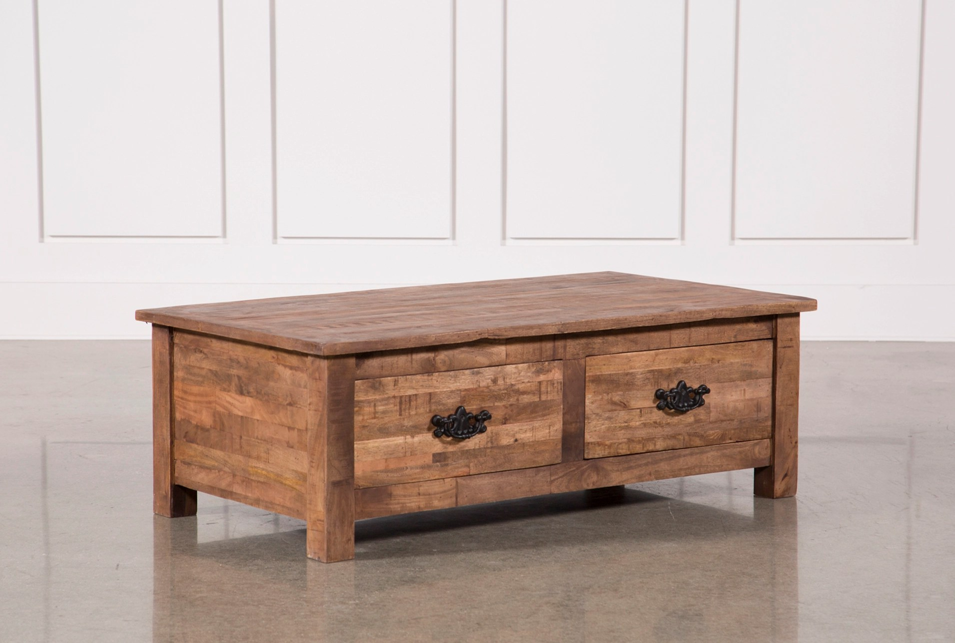 Mango Wood 4-drawer Coffee Table Living Spaces