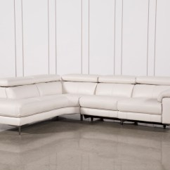 Martino Leather Chaise Sectional Sofa 2 Piece Apartment And Ashley Furniture Gray With Tess Power Reclining W Laf