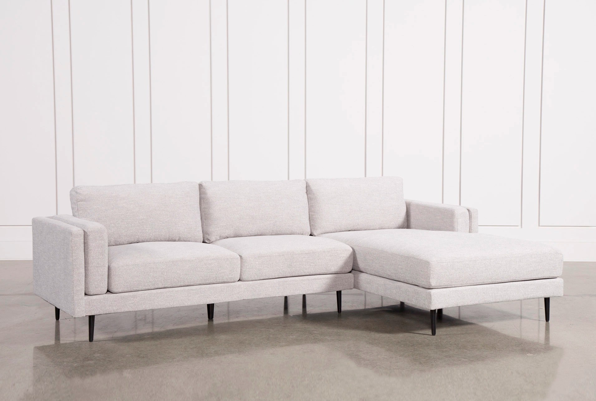 light furniture for living room decorating ideas beige couch aquarius grey 2 piece sectional w raf chaise spaces large view