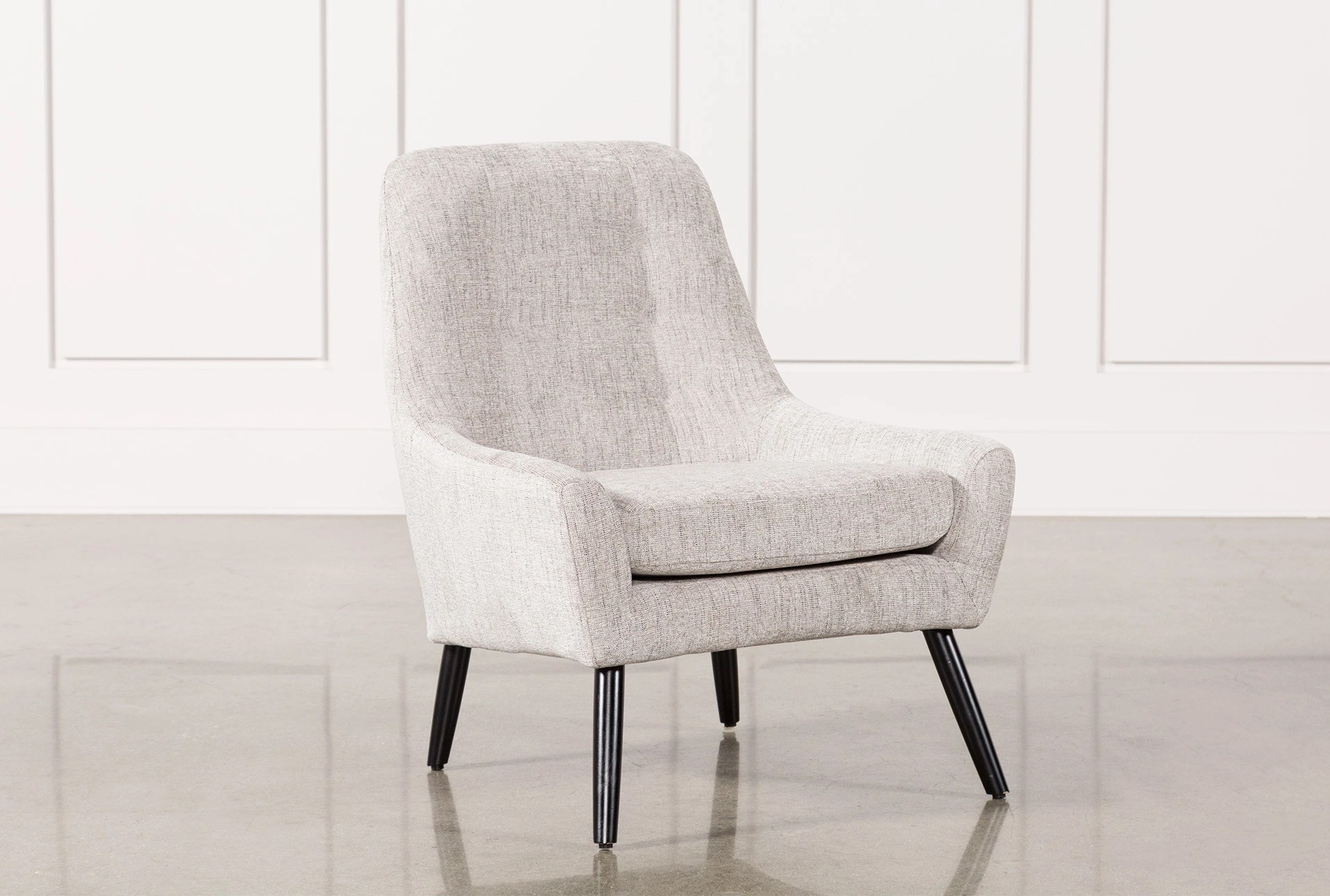 bedroom chairs aluminium sling living spaces bianca marble accent chair
