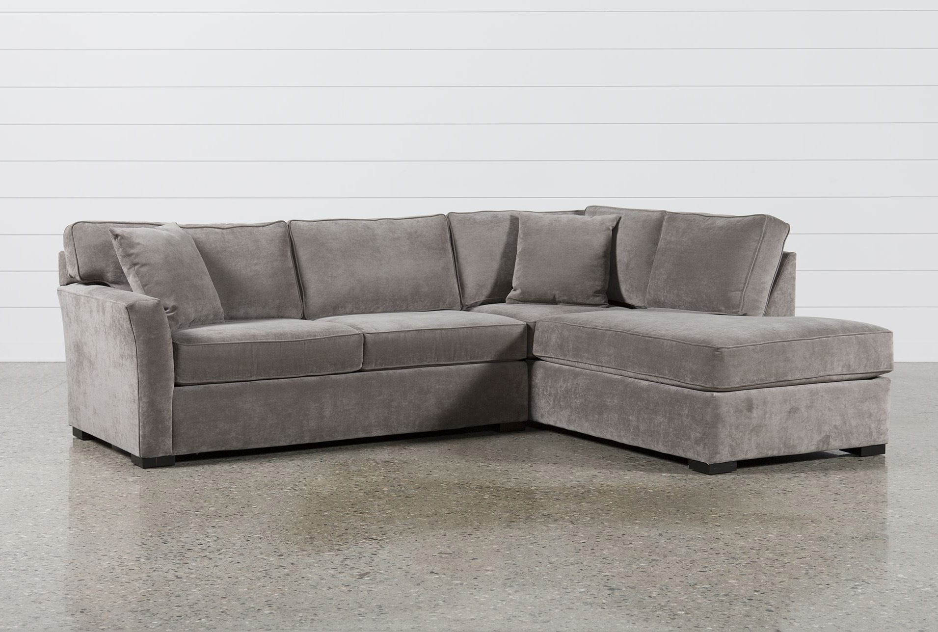 2 piece sectional sofa chaise leather and fabric sofas dfs aspen sleeper w raf living spaces
