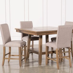 Tables And Chairs Chair Headrest Add On Dining Living Spaces Hyland 5 Piece Counter Set With Stools