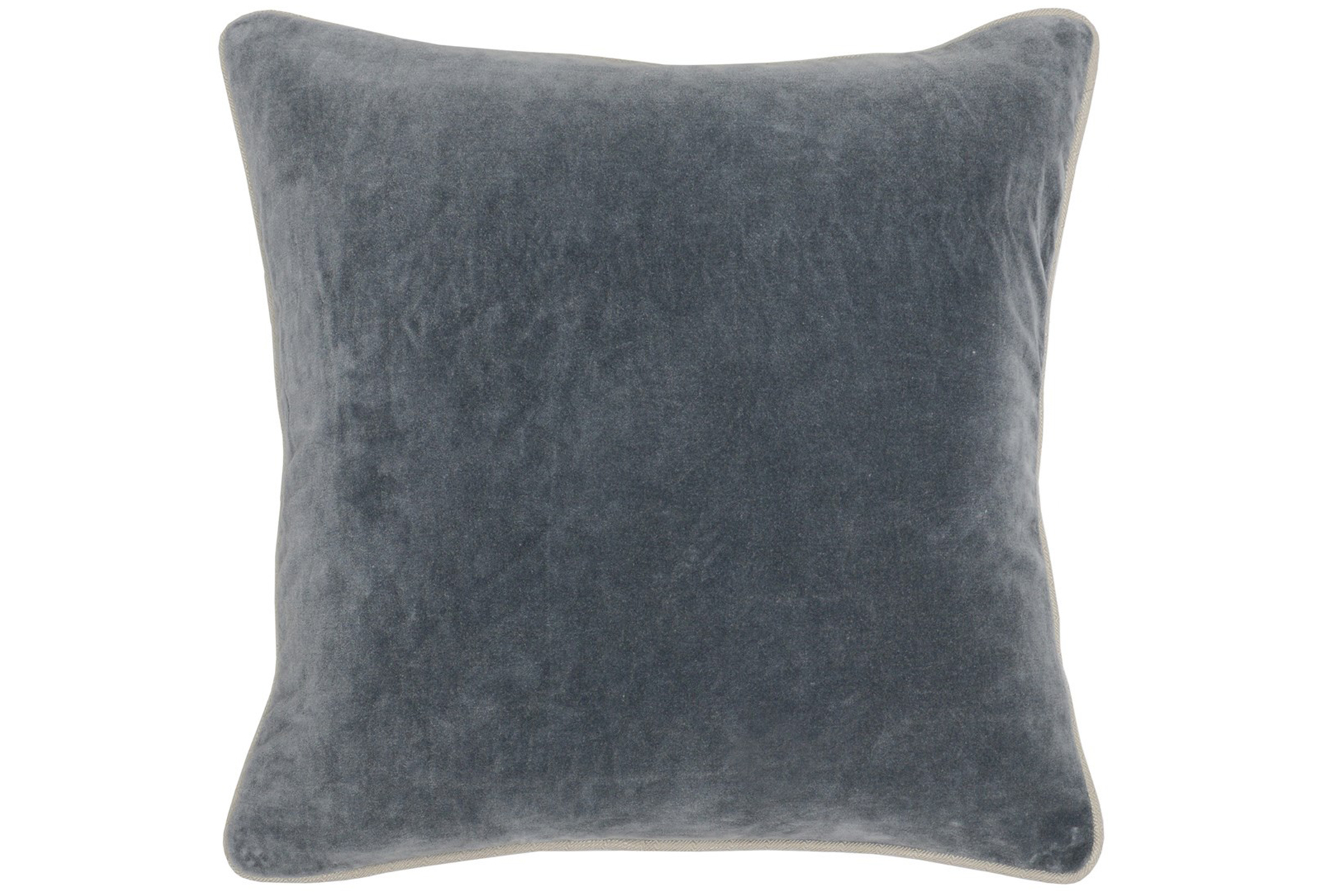 Accent Pillow-steel Grey Washed Velvet 18x18 Living Spaces