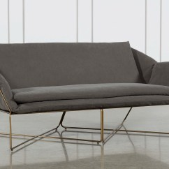 Living Es Sofa Italsofa Brown Leather Loveseat Canvas Indoor Outdoor Furniture Made From Salvaged