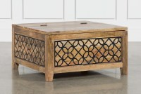 Metal Inserts Coffee Table | Living Spaces