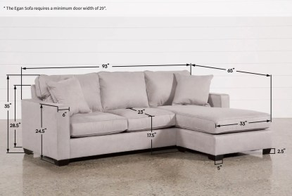 egan ii cement 93 sofa with reversible chaise