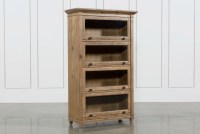 Market Barrister Curio Bookcase   Living Spaces