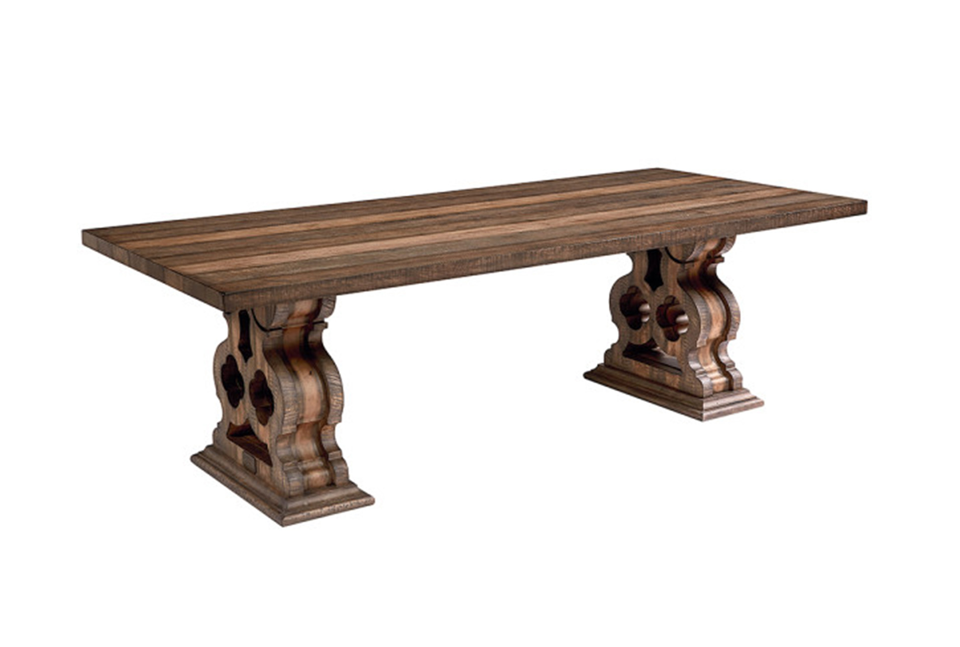 pedestal kitchen table high end faucet magnolia home double dining by joanna gaines living 360