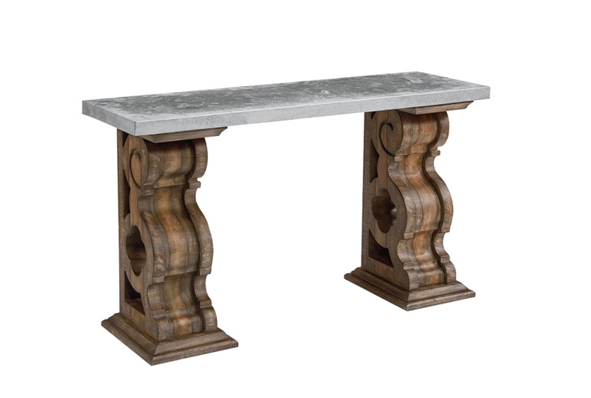 sofa table size corner removable covers uk magnolia home double pedestal with zinc top by joanna gaines qty 1 has been successfully added to your cart