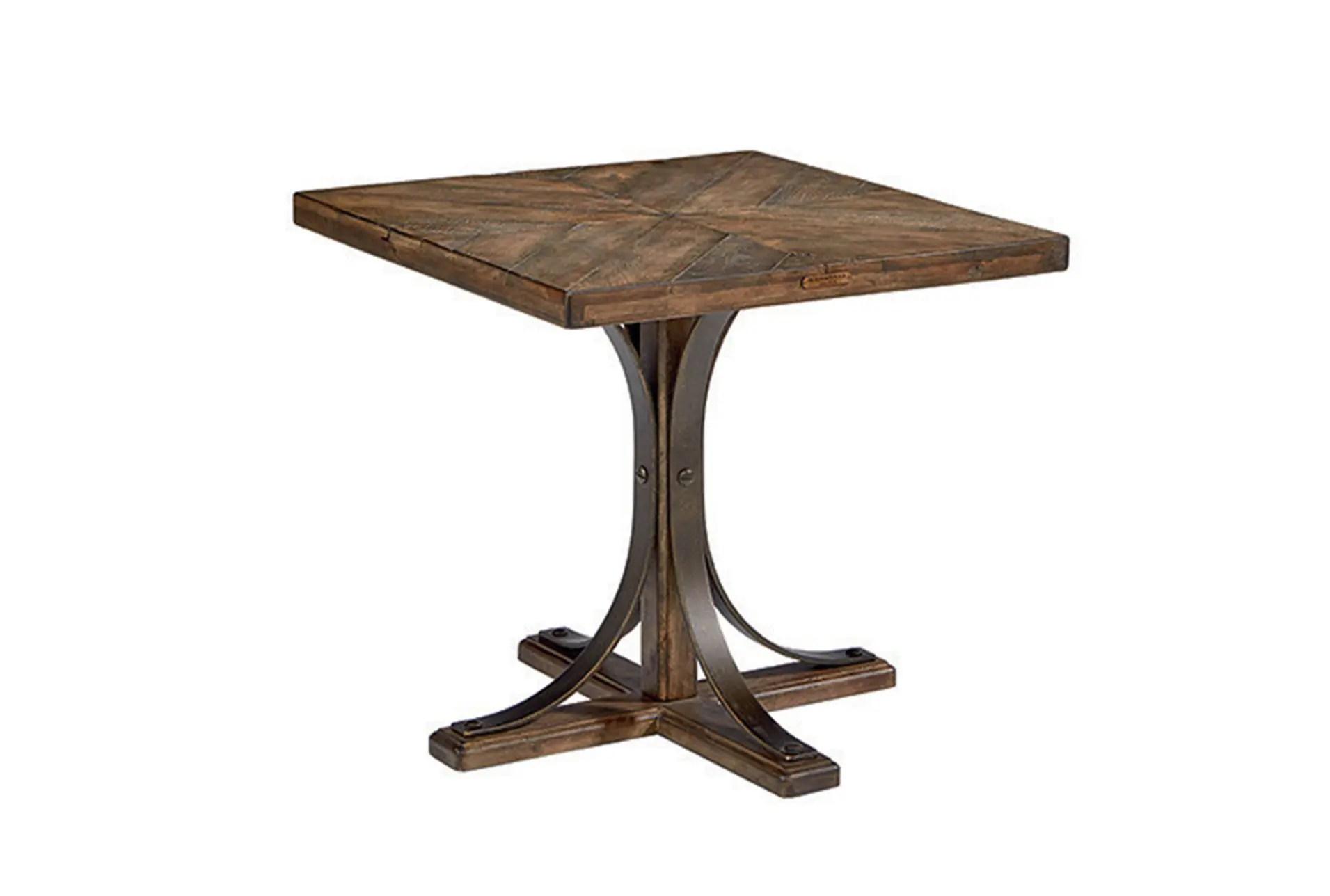 Magnolia Home Iron Trestle End Table Joanna Gaines