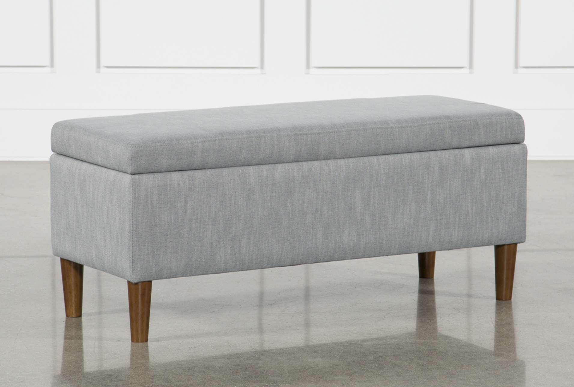 Dean Charcoal Storage Bench Living Spaces
