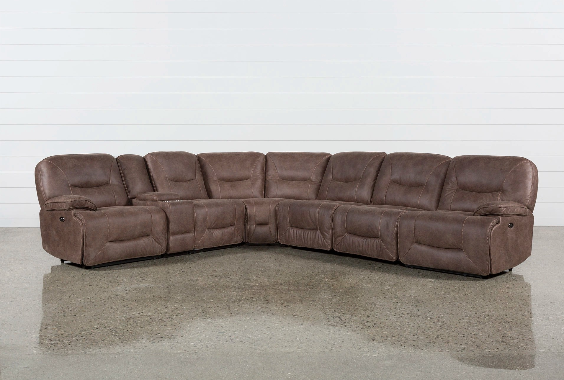 Jackson 6 Piece Power Reclining Sectional With Sleeper