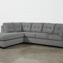 2 Piece Sectional Sofa Chaise Sleeper With Foam Mattress Arrowmask W Laf Living Spaces