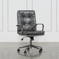 Black Leather Desk Chairs Swivel Glider Living Room Office For Your Home Spaces Norton Tufted Chair