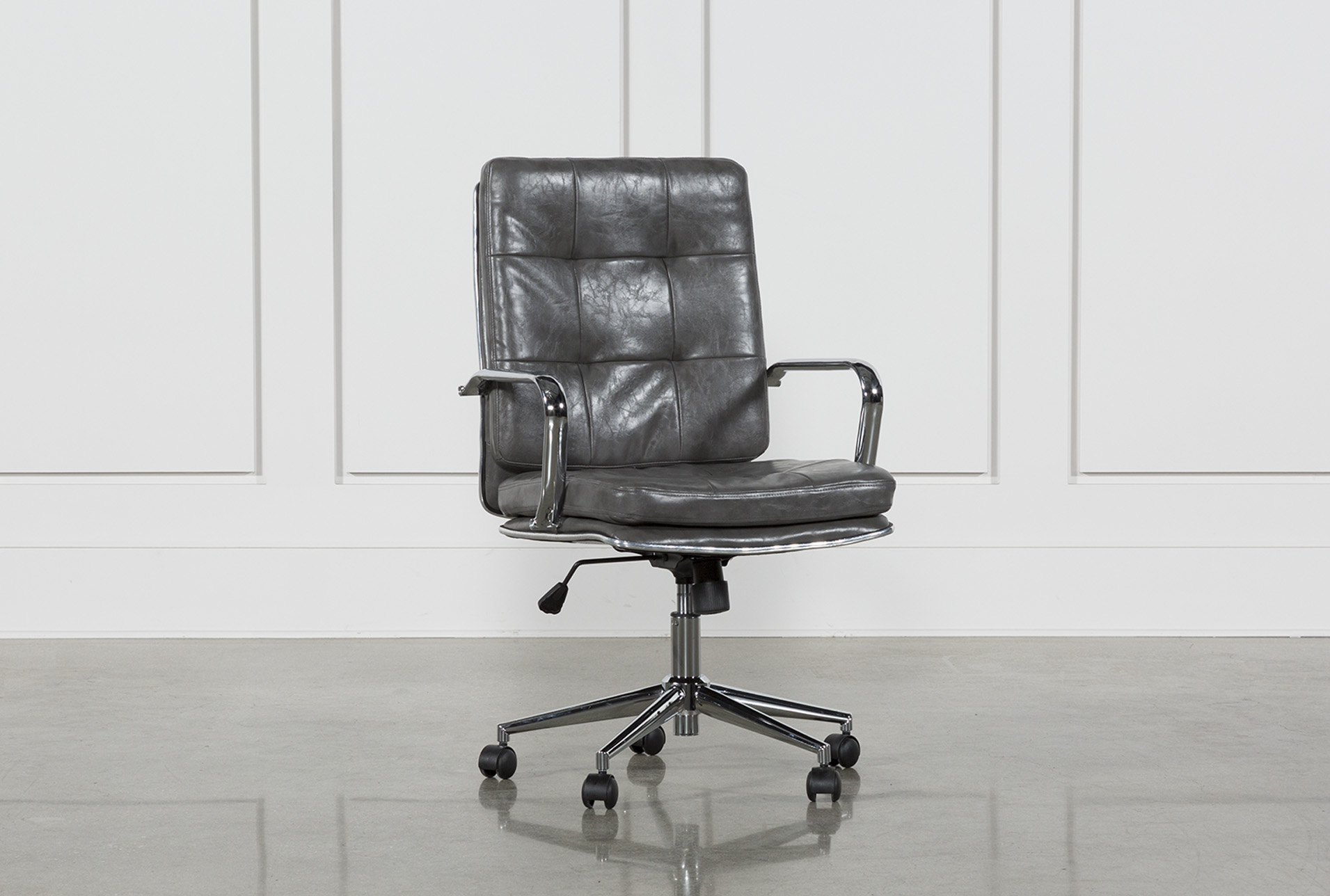 unique leather office chairs low for babies your home living spaces norton tufted chair