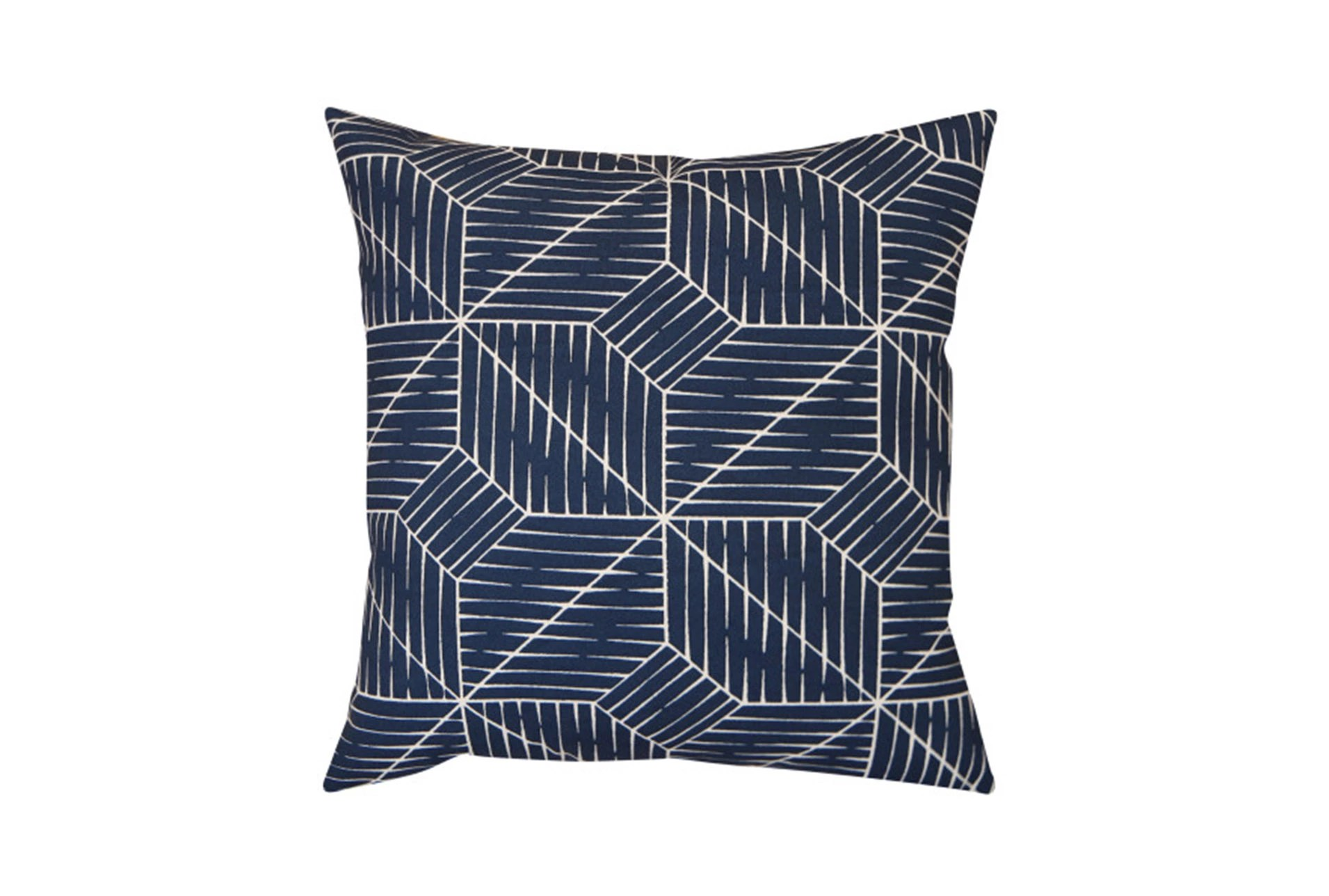 Outdoor Accent Pillow-cross Hatch Navy 18x18 Living Spaces