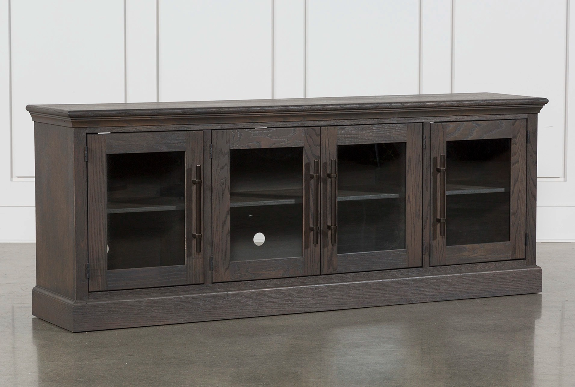 tv stands for living room modern wall color ideas wakefield 85 inch stand spaces 360
