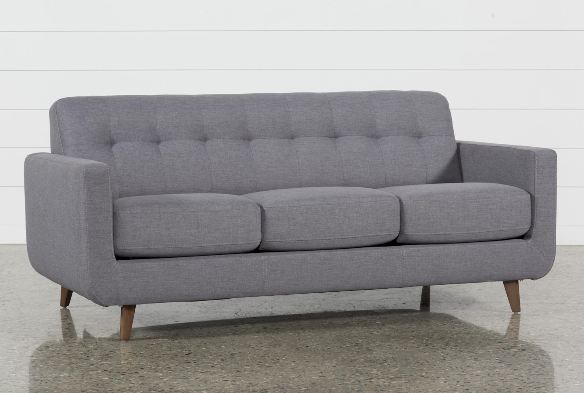 beach print sleeper sofas black reclining sofa and loveseat allie dark grey queen living spaces