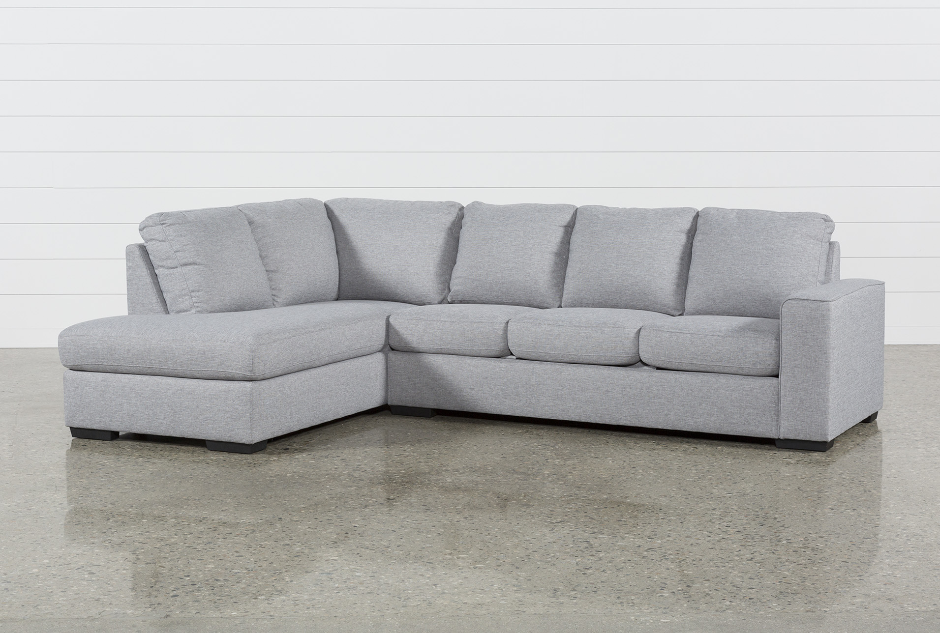 lucy grey 2 piece 114 sectional with left arm facing chaise