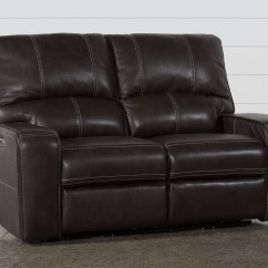 Grey Power Reclining Sofa Outlet Manchester Clyde Leather Loveseat W