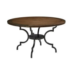 Round Black Kitchen Table Abt Appliance Packages Dining Tables To Fit Your Room Decor Living Spaces Magnolia Home Breakfast By Joanna Gaines