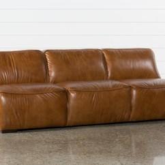 Armless Sofas Blush Pink Tufted Sofa Burton Leather Living Spaces