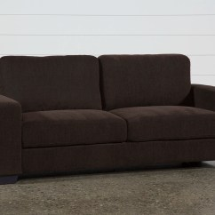 Brown Fabric Sofa Used Sleeper For Sale Chocolate Shapeyourminds
