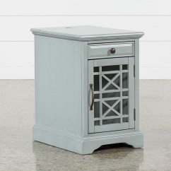 Gray Chair Side Table Bright Stars Bouncy Annabelle Earl Grey Power Chairside Living Spaces