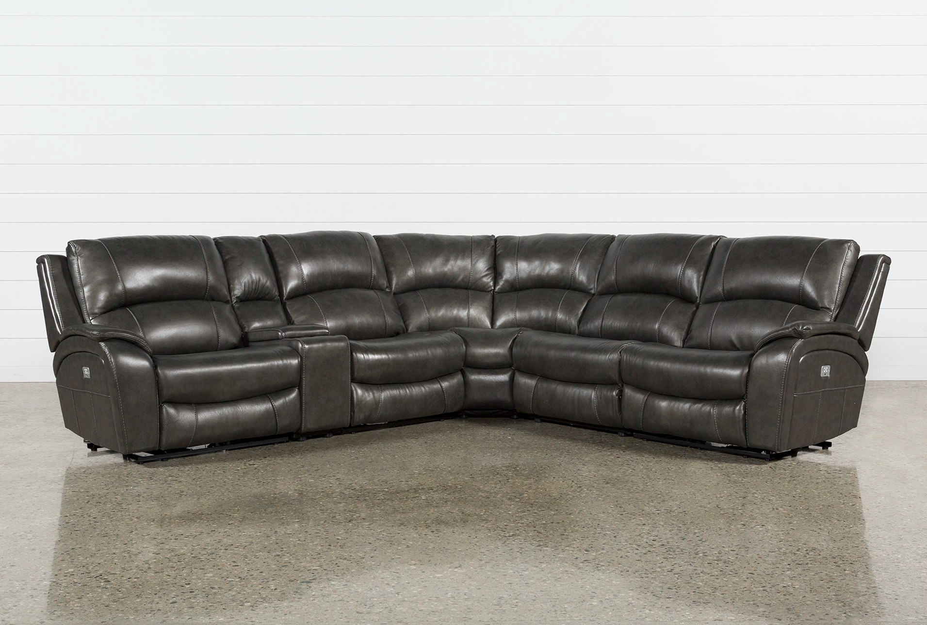 6 Piece Sectionals with Power USB Charger