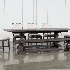Dining Set With Bench And Chairs Lift Chair Walgreens Room Sets Living Spaces Norwood 7 Piece Rectangular Extension Uph Side