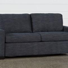 Mackenzie Sofa High End Sleeper Denim Queen Living Spaces